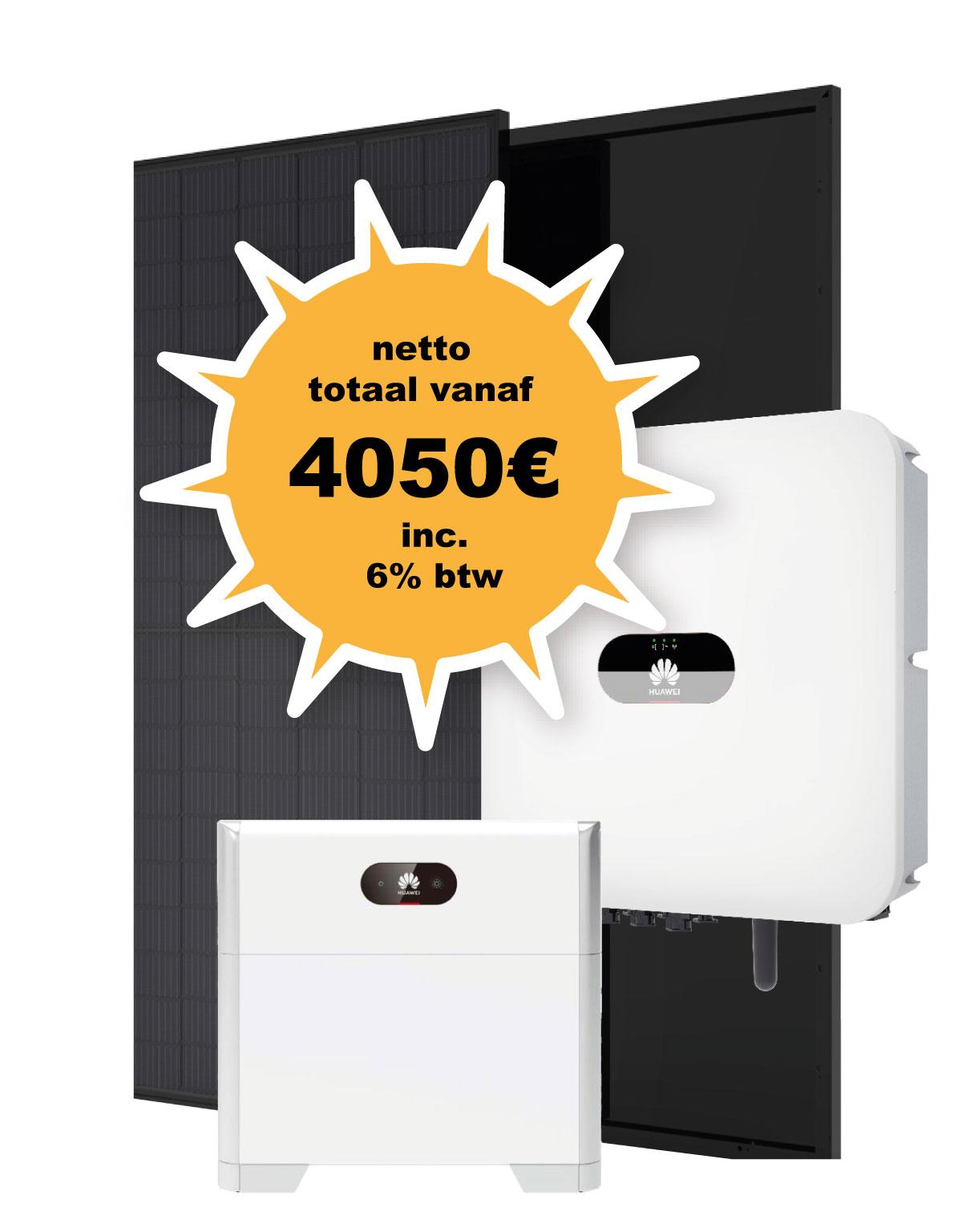 promotie zonnepanelen omvormer thuisbatterij